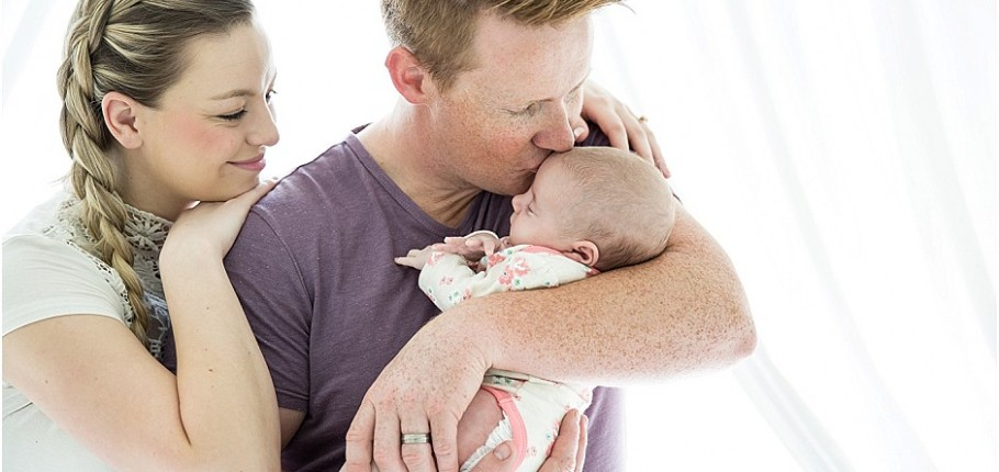 Baby Annabelle's first photo shoot!